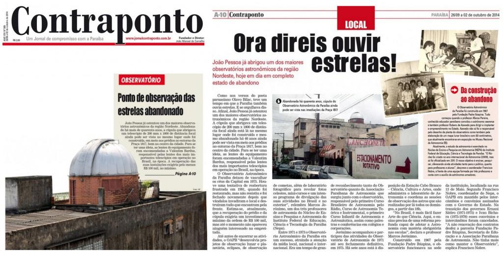 Matéria Jornal Contraponto