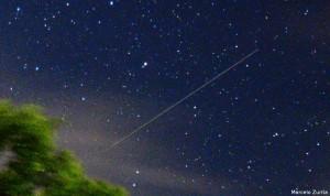 Meteoro Perseida registrado em Guarabira