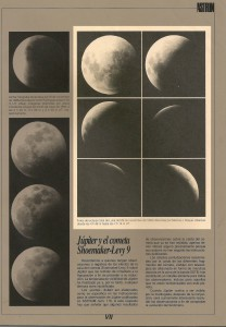 Artigo com fotos do Eclipse Total da Lua de 1993