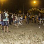 Público observando fase final do eclipse em Taperoá - Foto: Felipe Sérvulo/Mistérios do Universo